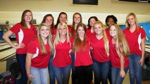 2015 Creek Wood Lady Red Hawks bowling team won another match Monday, beating Jo Byrns at home to improve to 3-1.