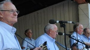 The Guilford Station Bluegrass Gospel Band plays at the Path Valley Picnic on Wednesday, August 15, 2012.