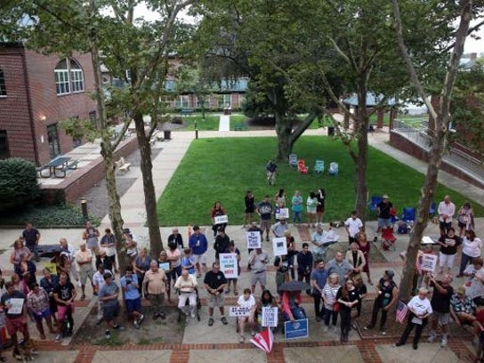 A rally for peace to show solidarity with the Charlottesville