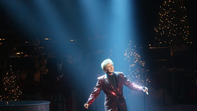 """Barry Manilow  performs his """"Gift of Love"""" at the McCallum Theatre in Palm Desert on December 8, 2015."""
