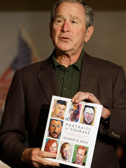 George W Bush Artist Has Best Seller With Portraits Of Courage