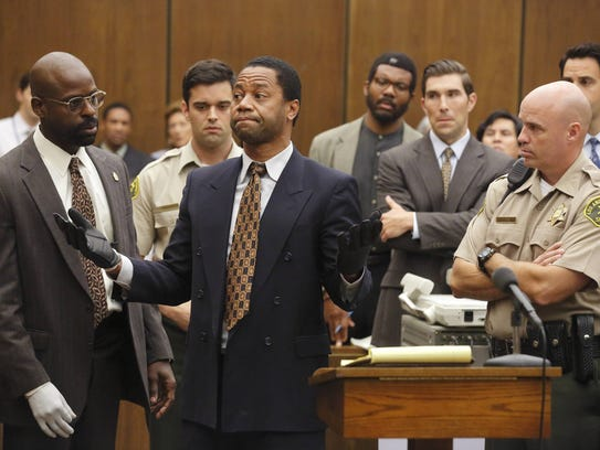 Cuba Gooding Jr., center, portrayed O.J. Simpson in