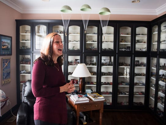 Jane Dyer in her Easley home on Tuesday, Oct. 24, 2017.