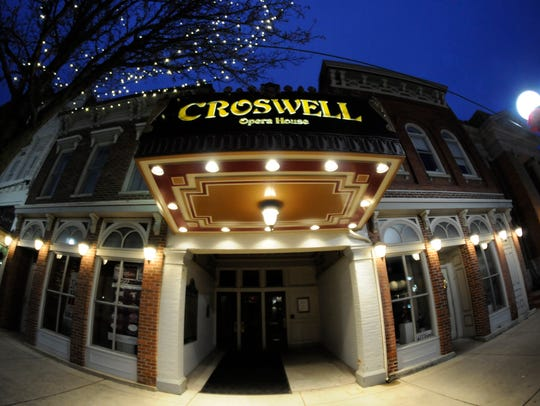The exterior of the Croswell Opera House in downtown