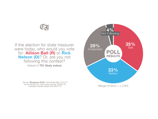 In the treasurer's race, Republican Allison Ball, a
