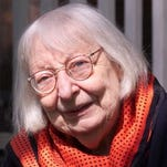 """Jane Jacobs is shown outside her home in Toronto in this photo taken in 2000. Jacobs, an author and community activist of singular influence whose classic """"The Death and Life of Great American Cities"""" transformed ideas about urban planning, died in 2006."""