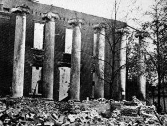 This photograph of the ruins of the Franklin County