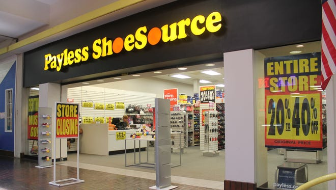 The Payless ShoeSource inside White Sands Mall, 3199 N White Sands Blvd., is one of 378 stores nationwide slated to close following Payless filing for bankruptcy.