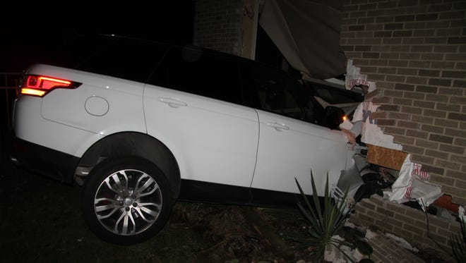 Police say this vehicle was driven into a house near Bell Creek Lane and Bloomfield in Livonia over Labor Day weekend.