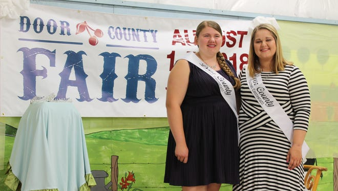 Claire Olson, left, was crowned Door County Fair Fairest of the Fair and Helen Parks was crowned 2018 Junior Fairest of the Fair Wednesday, July 11, 2018.