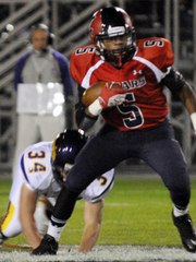 If Lebanon's offensive guards can help clear space, Malik Hunter should have plenty of room to run Friday. (Ashley Walter -- Lebanon Daily News)