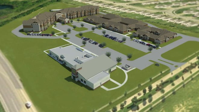 A rendering of O'Reilly Development's planned senior living community in Wentzville.