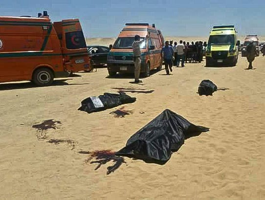 This image released by the Minya governorate media