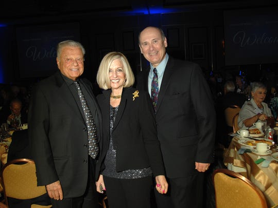 (left to right) Honorary Chair and Presenting Sponsor of National Philanthropy Day Harold Matzner, Helene Galen, and Mitch Gershenfeld of McCallum Theatre.