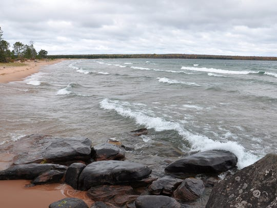 Julian Bay Beach in Bayfield County is one of five