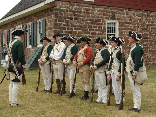 The Bergen County Historical Society has its headquarters at New Bridge Landing, where it hosts reenactments of the American Revolution.