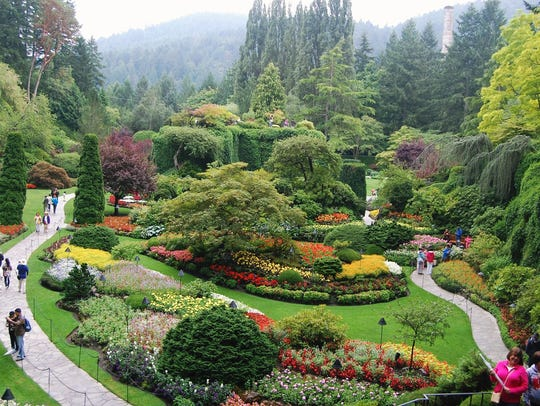 One of the many wonderful gardens at Butchart Gardens-taken