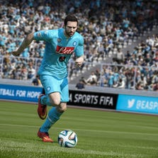 A scene from 'FIFA 15', a video game by EA Sports.