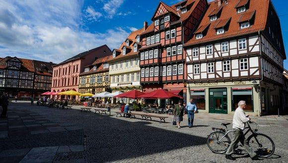 Market square in Quedlinburg.