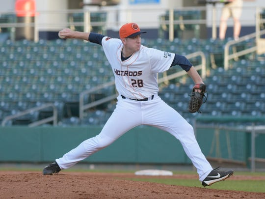 Tyler Zombro, seen here two years ago pitching for Bowling Green, will be in spring training with Tampa Bay starting next week.