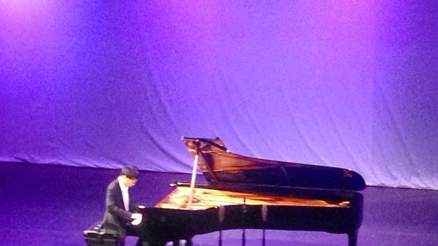 Tristan Yang, 16, competes in the Virginia Waring International Piano Competition Wednesday.