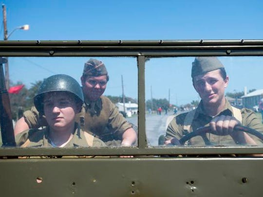 United States Army re-enactors cruise around Fort Miles in a WWII-era Jeep. Fort Miles is a must-see at Cape Henlopen State Park in Lewes.