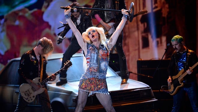 Neil Patrick Harris performs a number from 'Hedwig and the Angry Inch' at the 2014 Tony Awards in New York.