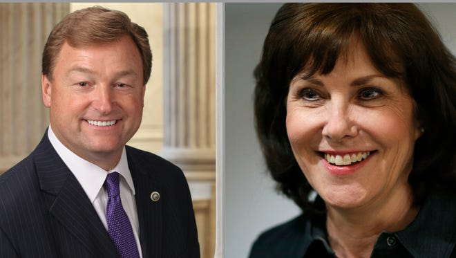 The top candidates for U.S. Senate in Nevada's 2018 primary election: Sen. Dean Heller, R-Nev., Rep. Jacky Rosen, D-Nev., Democrat Jesse Sbaih and Republican Sarah Gazala.