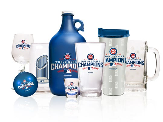 Glendale-based Boelter Brands LLC is producing Chicago Cubs championship merchandise.