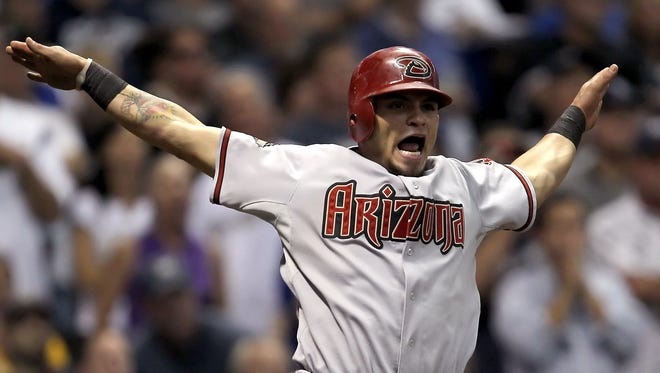 Gerardo Parra scored the tying run in the ninth inning of Game 5 in the NLDS against the Brewers. Milwaukee answered with a run in the 10th to win the series.