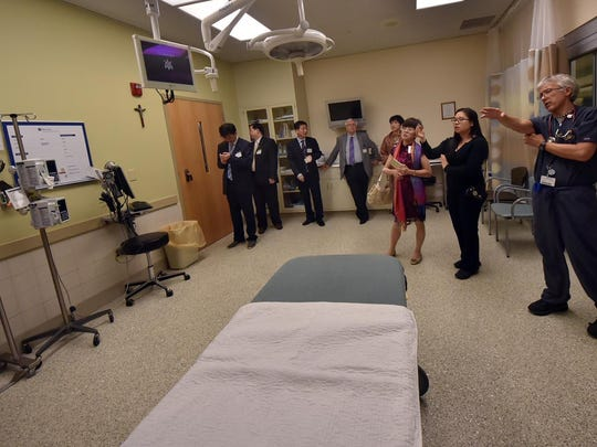 A trauma room at the Door County Medical Center.