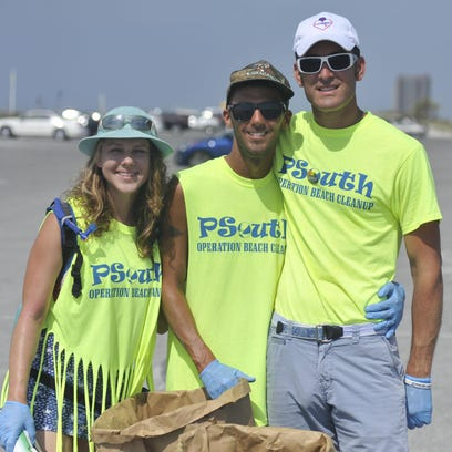 Members of the PSouth Operation Beach Cleanup wore