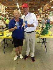 Sen. John Schickel, R-Union, is congratulated by Linda