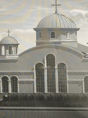 An artist rendering of a dome proposed for the Virgin Mary Antiochian Orthodox Church in Yonkers.