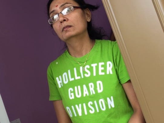 Hetelben Patel, wife of Praful Patel, who was arrested