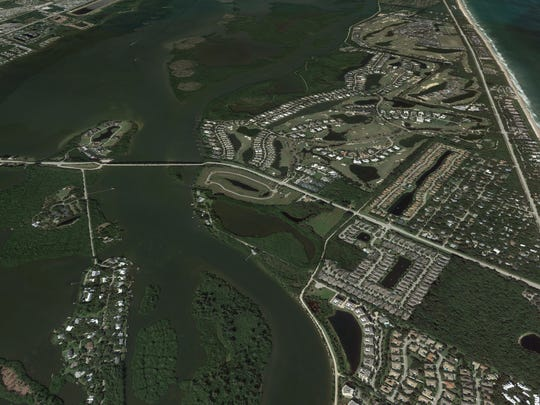 The town of Orchid, seen right, is  located on the barrier island in Indian River County.