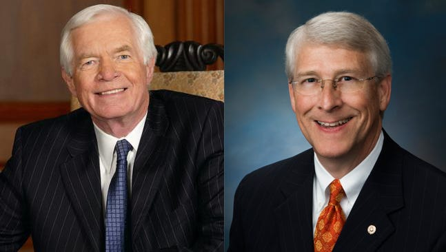 Republican Sens. Thad Cochran and Roger Wicker of Mississppi.