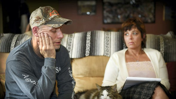 The parents of Tori Herr, Stephanie and Dean Moyer,