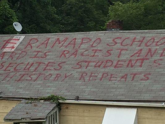 Anti-East Ramapo message
