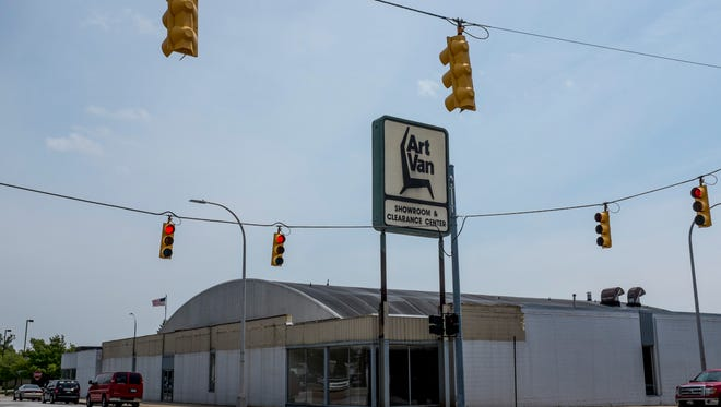 The former Art Van building at the corner of Michigan Street and Grand River Avenue in Port Huron.