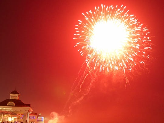 Fireworks serve as the grand finale to Oceanfest in Long Branch.