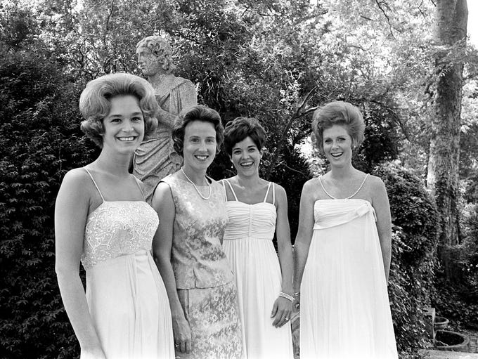 Posing at Cheekwood on May 28, 1968, are four of the