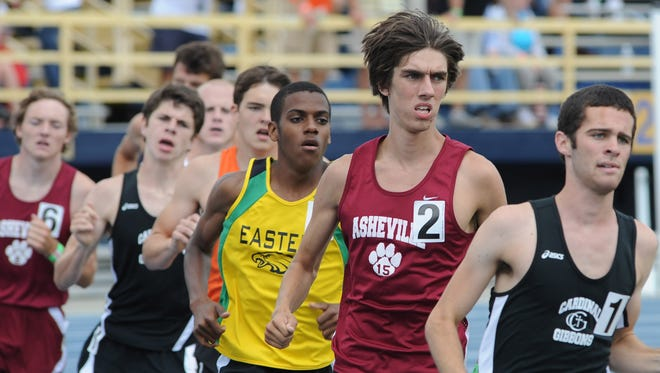 Asheville High alum Isaac Presson (2) is a senior for the North Carolina track team.