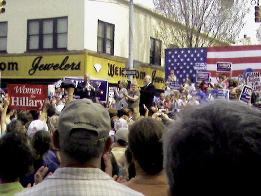 Hillary Clinton spoke to a rally at Beaver and Market streets in downtown York during her 2008 presidential campaign. That intersection is now the crossroads of an improving part of the city.