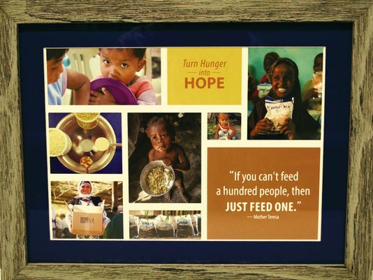 One of the prints available for just 50, the cost of providing 250 MannaPack meals.