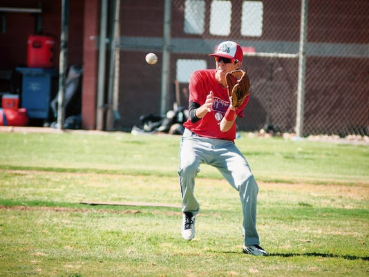 Jett Loe/Sun-News   Las Cruces High's PJ Sanchez will play in this weekend's Bob Ogas North/South All-Star Classic at Apodaca Park, following in the footsteps of his father, who played in the 1977 All-Star series.