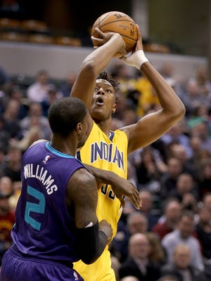 Pacers forward Myles Turner (33) has become a prominent scoring option in the final minutes of games.
