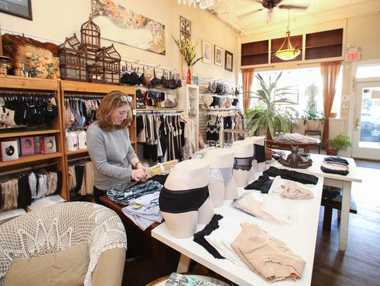 Gena Lisanti, owner of Gena Lisa Lingerie in Nyack,