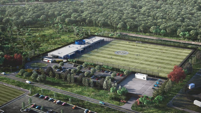 A concept rendering of the New York City Football Club's planned Orangeburg facility.