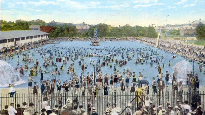 Farquhar community pool postcard 1924. DAILY RECORD/SUNDAY NEWS - SUBMITTED